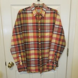 JCrew mens plaid button up shirt